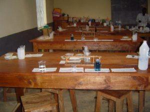 unser neu eingerichtetes Chemielabor